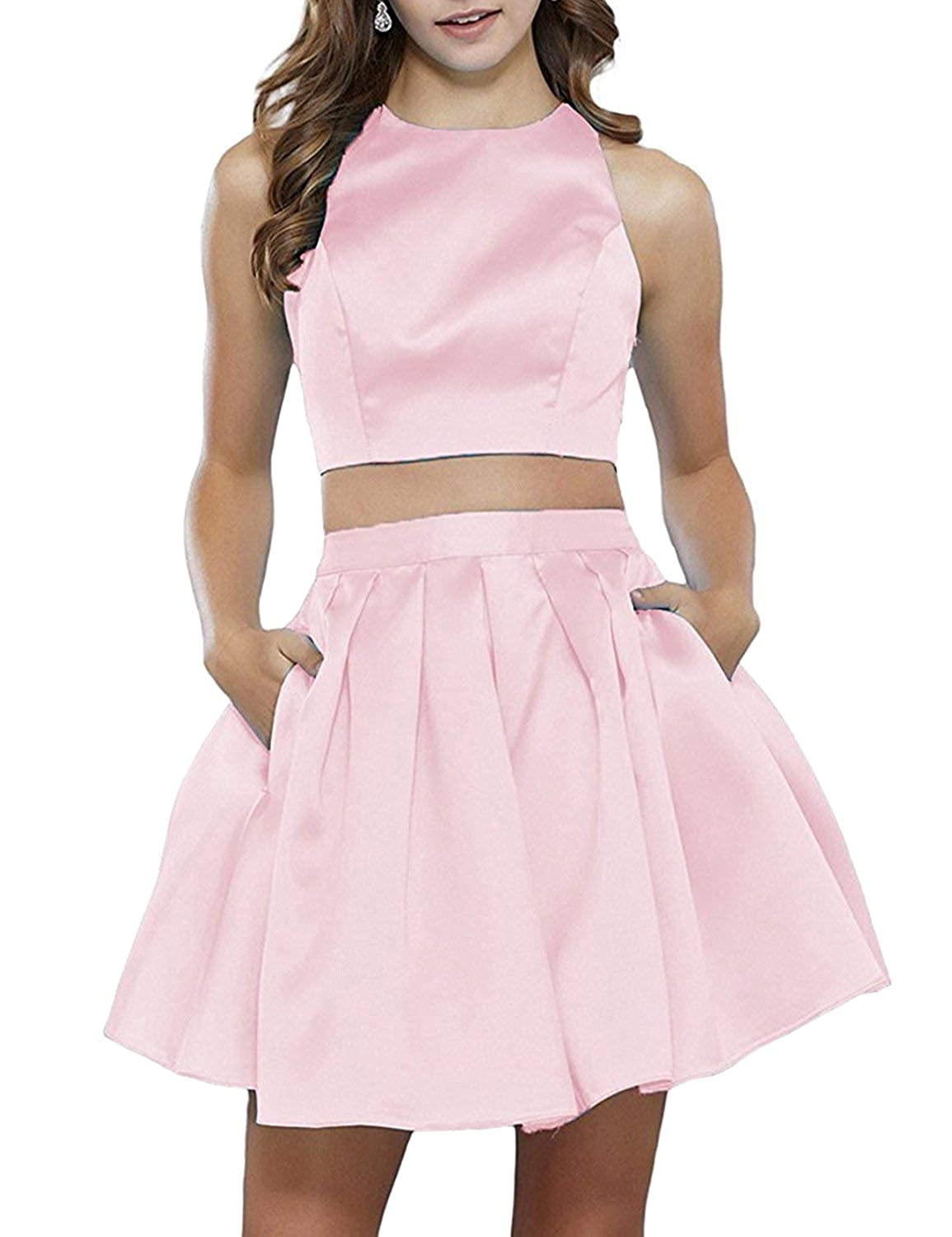 e0e4ba5385 ... ANFF Women s Two Piece Homecoming Dresses Short Prom Party Dresses  Pockets. Wholesale Price 59.99 -  69.99. Features  Two Piece