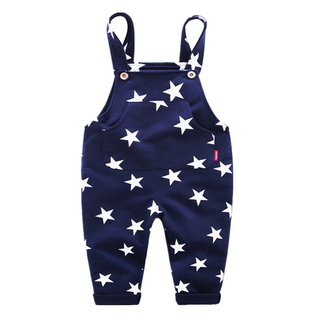 Sooxiwood Little Boys Overall Star Pocket Size 6 Navy