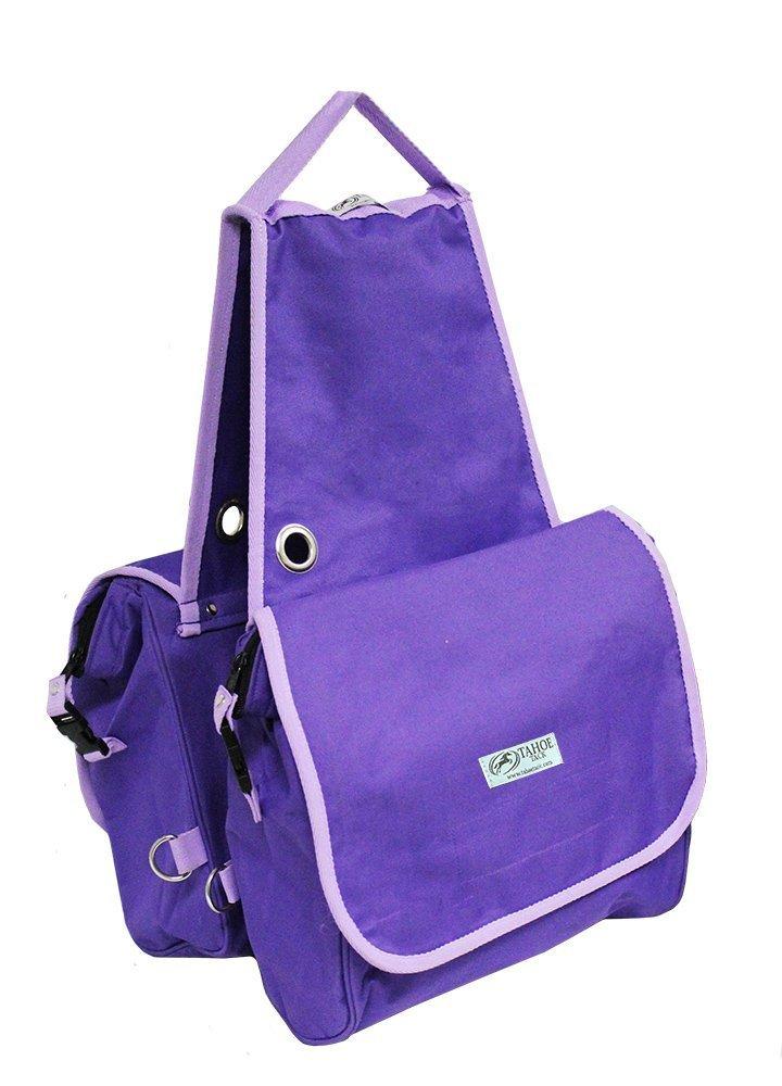 Purple Tahoe Insulated Waterproof Nylon Heavy Duty Saddle Bag