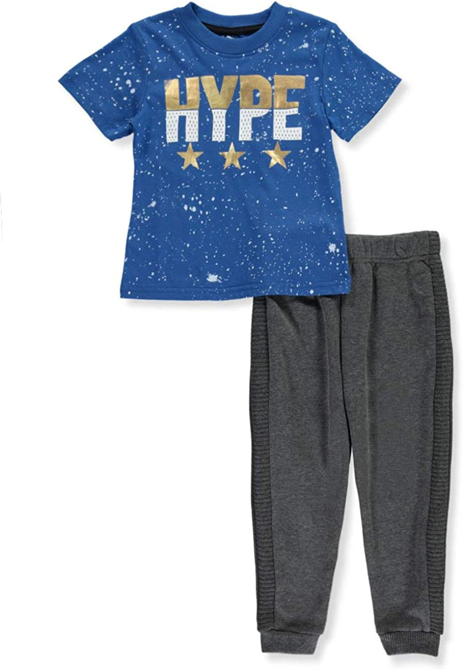 S1ope Boys Paint-Splattered Hype 2-Piece Pants Set Outfit
