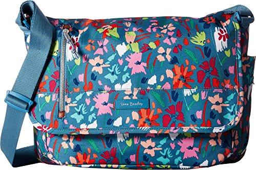 Vera Bradley Lighten up Rfid Laptop Messenger, Polyester, Superbloom Sketch