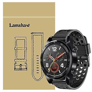 Ceston Clásico Deporte Silicona Correas para Smartwatch Huawei Watch GT (Negro)