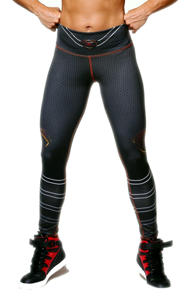Exit 75 Superman Superhero Leggings Yoga Pants Compression Tights