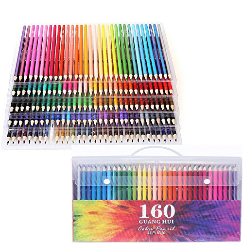 Global-store 160 Colored Pencils Set High-precision with Waterproof Handy Case Bright for Adults and Kids - 160 Store
