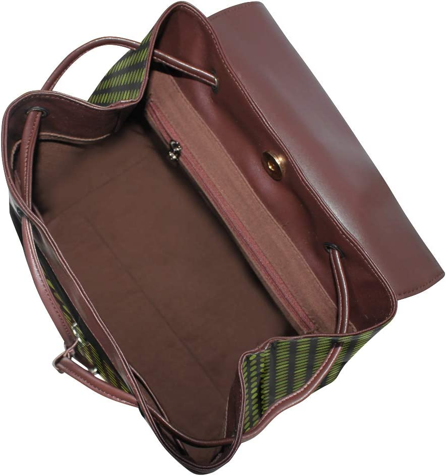 Unisex PU Leather Backpack Fashion Circles Camo Print Womens Casual Daypack Mens Travel Sports Bag Boys College Bookbag