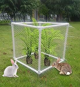 V–Valla de conejo hierba de planteadas cama con valla para flores hortalizas planta jaula, evitar conejo, perro, animales