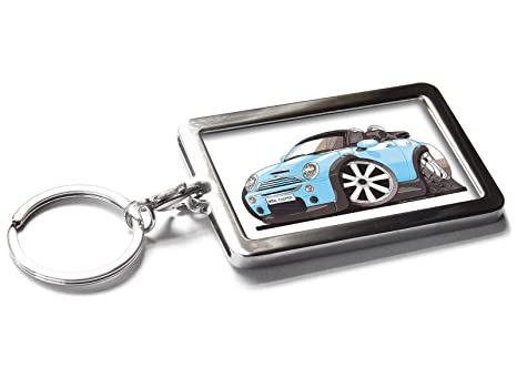 MINI COOPER METAL KEYRING BLUE