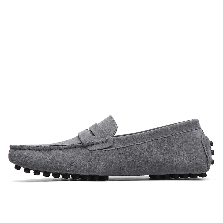 Shoes Men Loafers Soft Moccasins Autumn Winter Genuine Leather Shoes Men Warm Fur Plush Flats Gommino Driving Shoes
