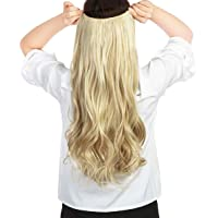 """22""""-26"""" V Part Clip in Hair Extensions 3/4 Full Thick Curly Wavy Straight Clip on Synthetic Hair Extension Hairpieces"""