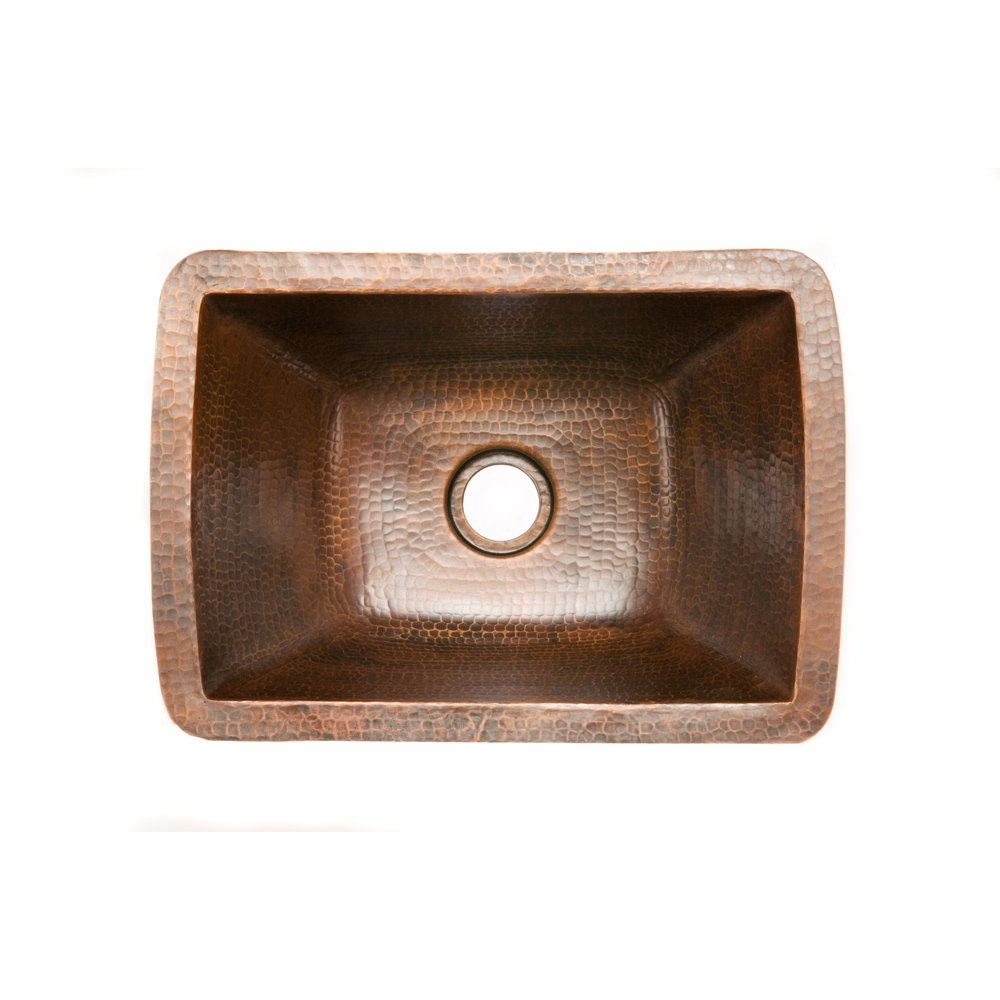 Premier Copper Products BRECDB2 Universal Rectangle Copper Bar Sink with 2-Inch Drain Size, Oil Rubbed Bronze by Premier Copper Products (Image #2)