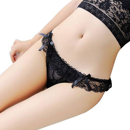 Xiang Ru Low Waist Lace Sexy G-String Briefs Panties Thong Underwear for  Women Black a7a5d2645