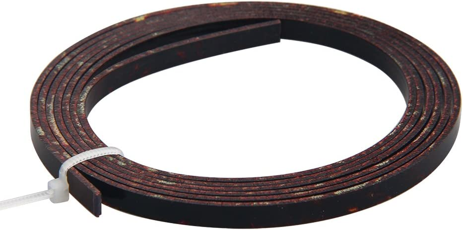 2pcs Dark Brown Celluloid Acoustic Guitar Binding Purfling Strip 5 Feet 4mm x 1.5mm
