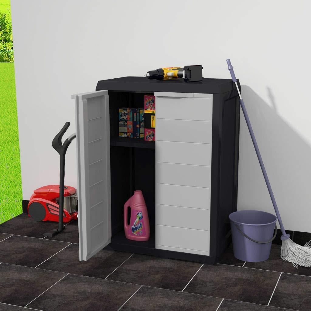 Festnight Outdoor Garden Storage Shed Indoor Storage Utility Cabinet Tool Shed with 1 Shelf by Festnight