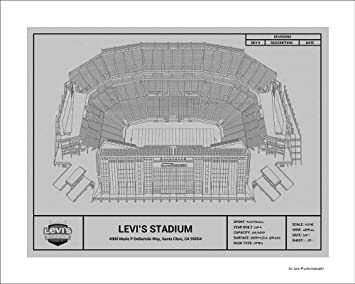 Amazon san francisco 49ers levis stadium blueprint art gift san francisco 49ers levis stadium blueprint art gift malvernweather Images