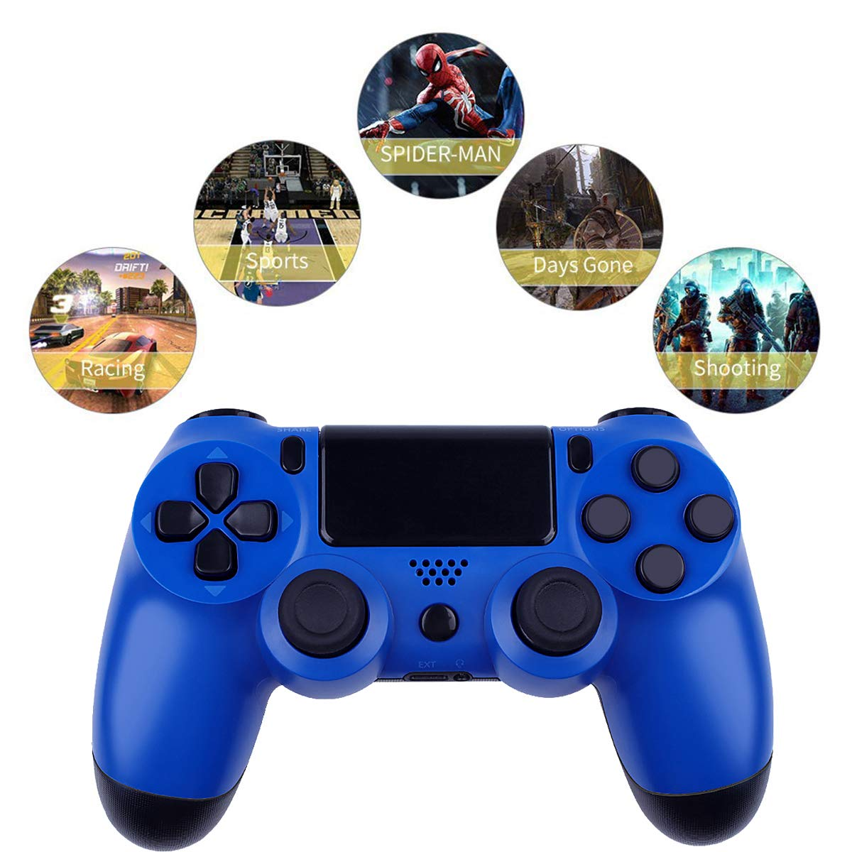 Gold1 Wireless Controllers for PS4 Playstation 4 Dual Shock Six-axis,Bluetooth Remote Gaming Gamepad Joystick