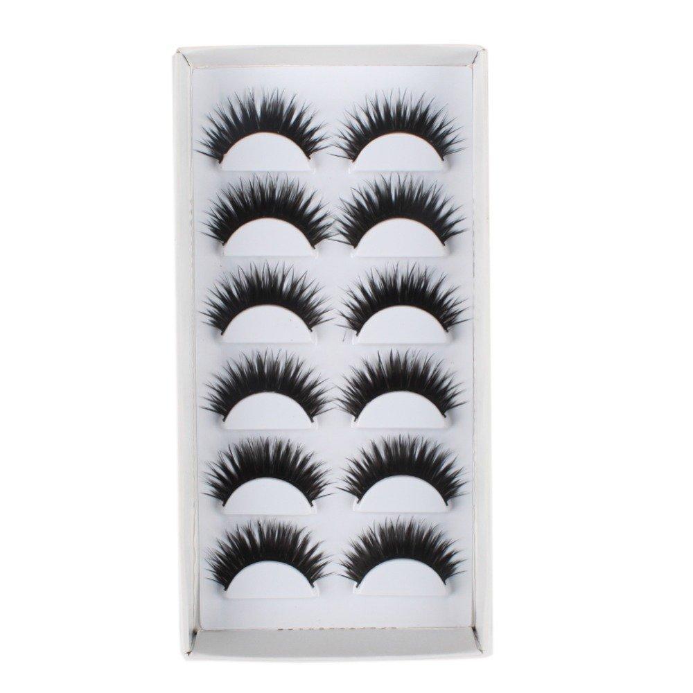 c1aba1dcc80 SBE Thick Black Taiwan Tips Natural Smoky Makeup Long False Eyelashes 1 Box  6 Pairs product