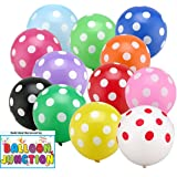 Themez Only Balloon Junction Polka Dot Birthday Party Balloons Multi Color (Pack Of 25)