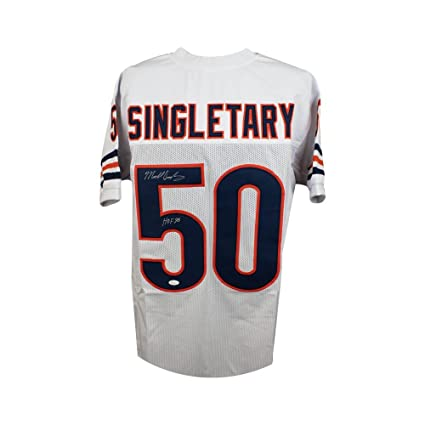 huge selection of cf0c9 4d030 Mike Singletary HOF Autographed Chicago Bears Custom White ...
