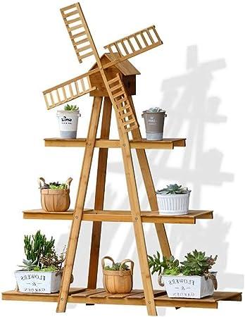 IDWOI Estantería para Plantas Soporte para Flores Bambú Escalera para Plantas Molino Interior Soporte De La Planta Jardín Estantería Decorativa (Size : 3 Tiers): Amazon.es: Hogar