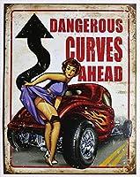 """Legends - Dangerous Curves Tin Sign 16"""" X 12.5"""" , 12x16"""
