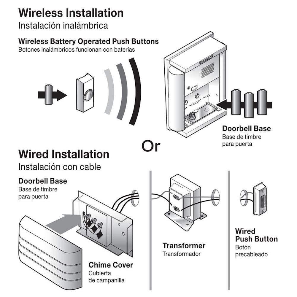 Wireless Or Wired Doorbell Chime Transformer Wiring Diagram
