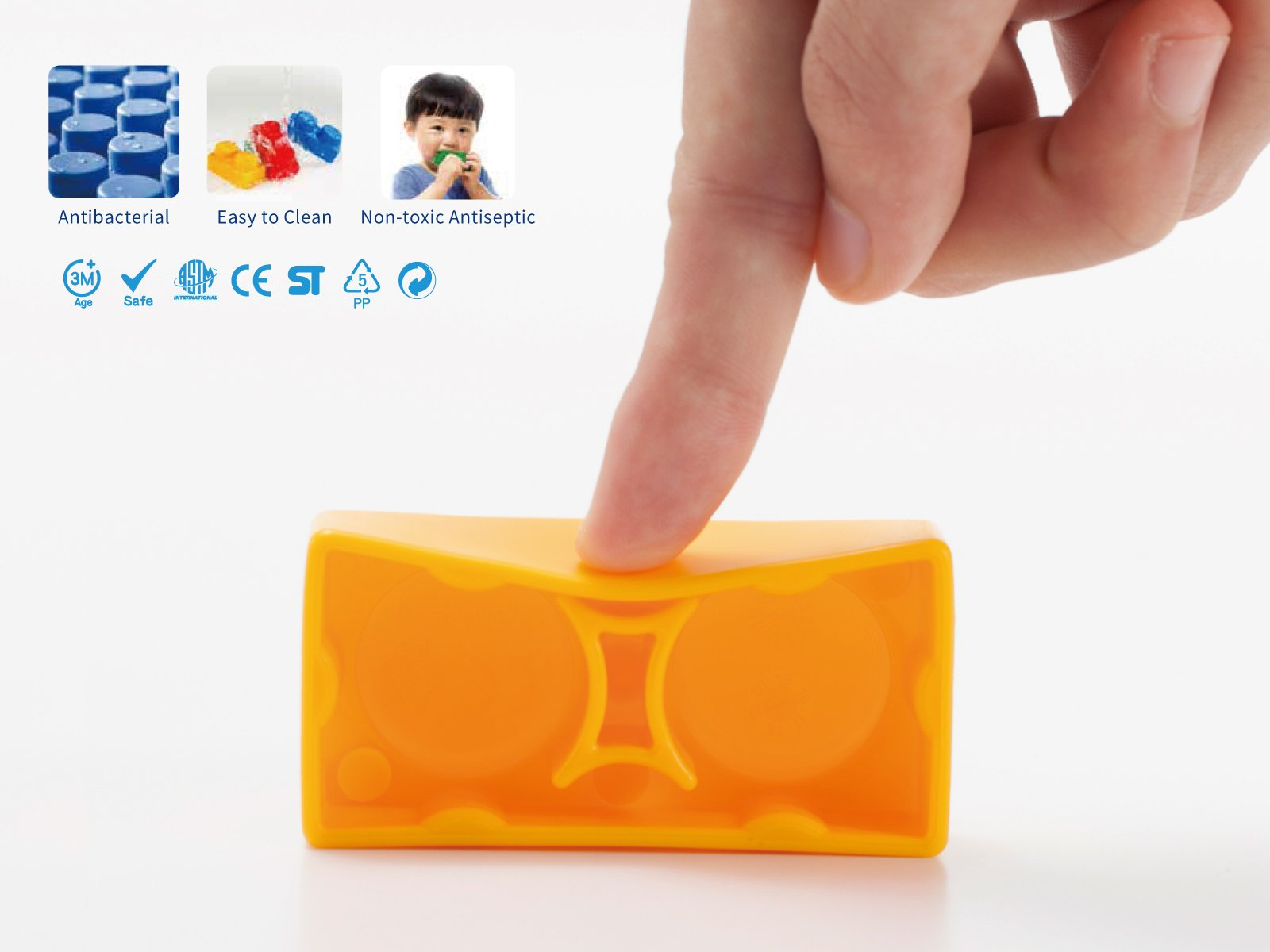 UNiPLAY Soft Building Blocks - Basic Series(36 PCS), Educational and Creative Toys, Food Grade Material(Antibacterial), Non-Toxic,100%SAFE for Kids, Toddlers, Baby, Preschoolers by UNiPLAY (Image #7)