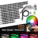 #3: Bluetooth Golf Cart Underbody Glow LED Lighting Kit Multi-Color Accent Glow Neon Lights Car Motorcycle LED Light Kit