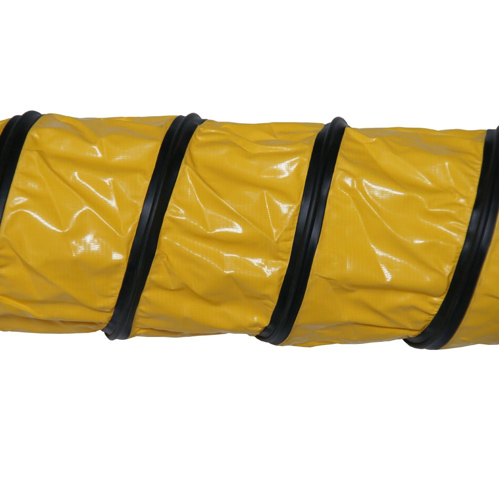 Rubber-Cal ''Air Ventilator Heavy-Duty'' Ventilation Hose (Fully Extended) - 24-Inch by 25-Feet