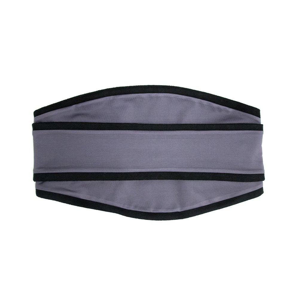 Sprigs Polar Band-It Fleece Neck Gaiter With Headband, Running Balaclava - Black/Gray