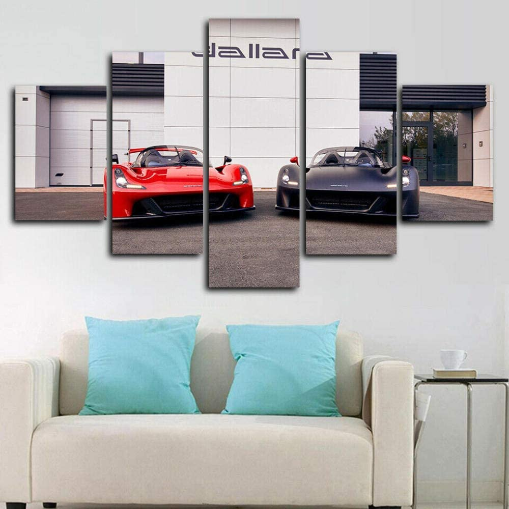 37Tdfc Grande Cuadro Abstracto sobre Lienzo Modernos Impresión de Imagen Pared 5 Piezas Sala Estar Dormitorio Moderno Decoración Wall Art Canvas Dallara Stradale Super Car