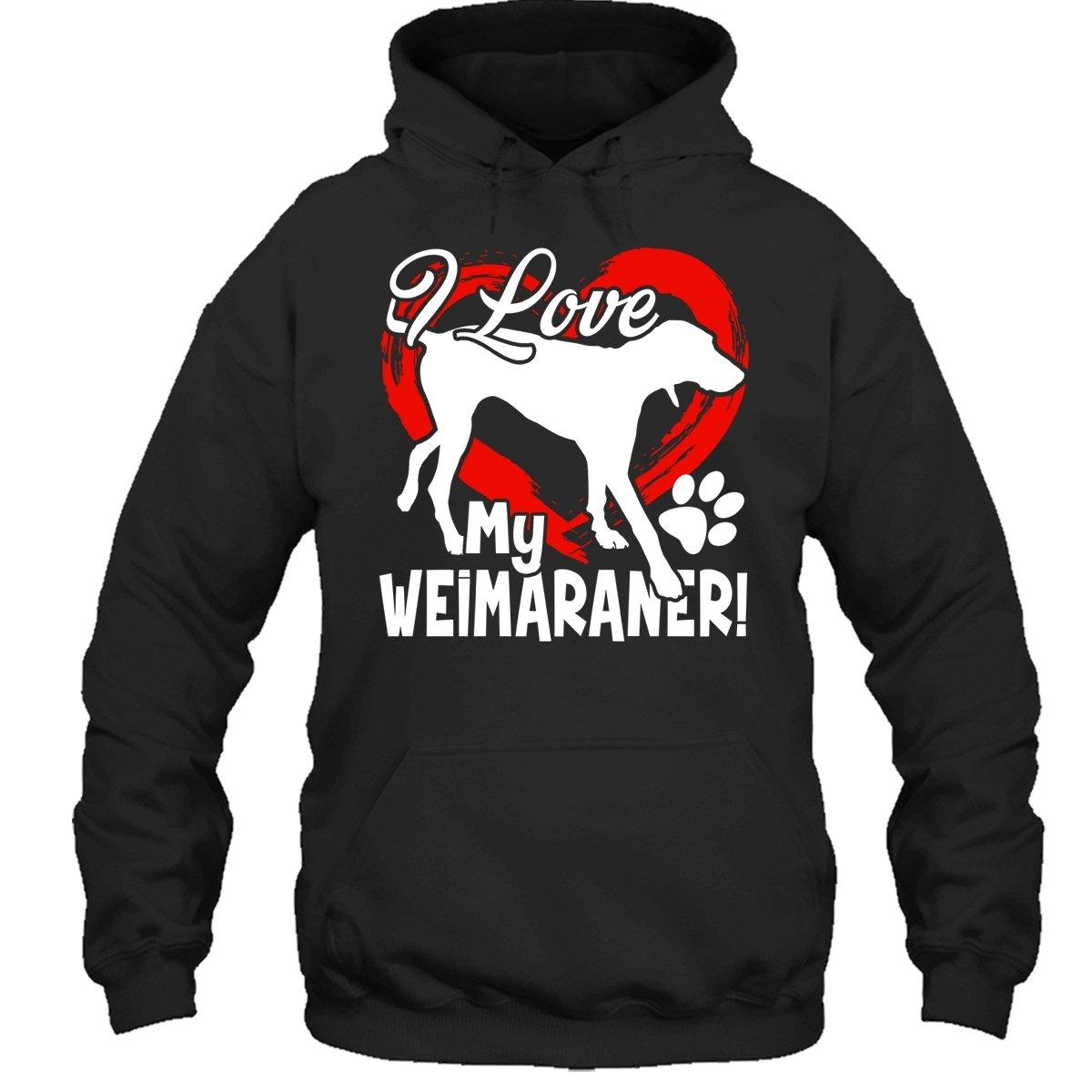 Zira-S Weimaraner T-Shirt I Love My Weimaraner T Shirt Design