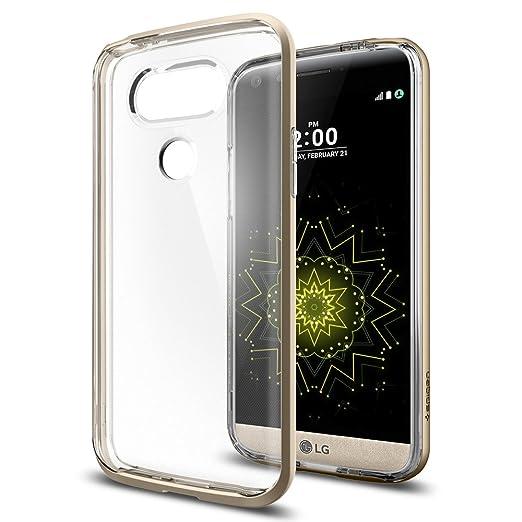 5 opinioni per Custodia LG G5, Spigen [Neo Hybrid Crystal] Bumper Frame Protection [Champagne