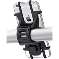 """Bike Mount, Bovon Universal Bicycle Phone Holder, Adjustable Silicone Handlebar Rack for iPhone X/6/7/8 Plus, Samsung Galaxy S9/S8 Plus, 4.5""""-6.0"""" Phones, Ideal for Road Mountain Bikes and Motorcycle"""