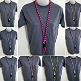KnottyCordCreations - Paracord ID Badge Neck Lanyard - Choose Your Colors & Length!