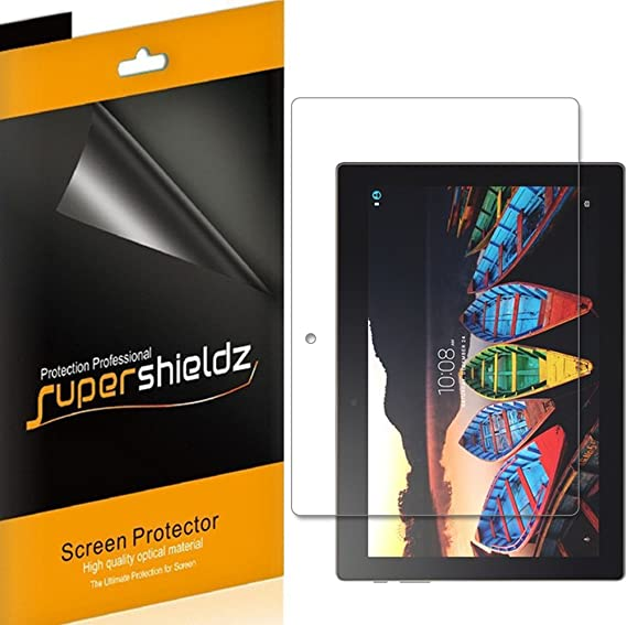 (3 Pack) Supershieldz for Lenovo Tab 10 (TB-X103F) 10.1 inch Tablet Screen Protector, High Definition Clear Shield (PET)