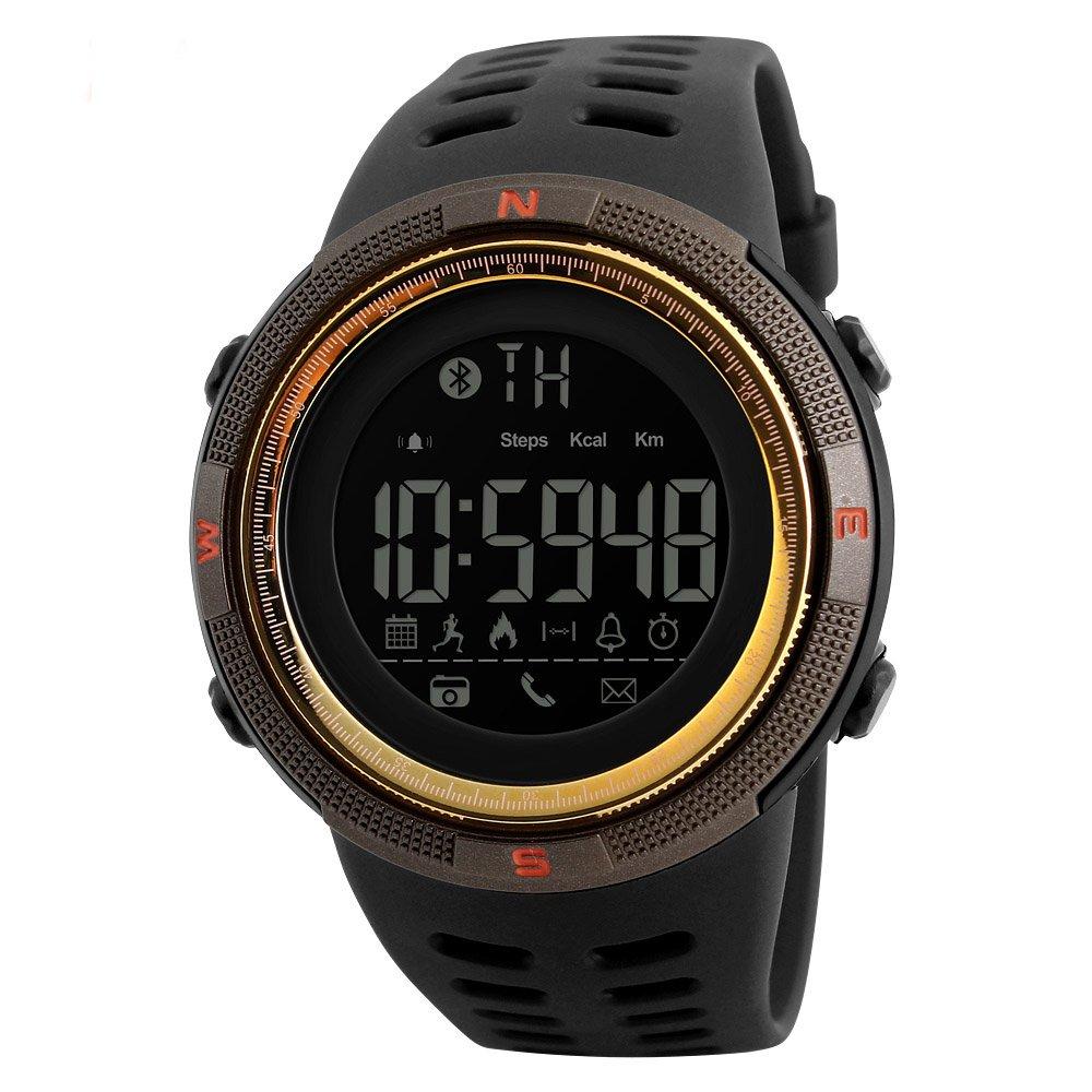 Amazon.com: SKMEI 1250 Smart Watch Pedometer Calories Clocks Waterproof Digital Wristwatches Outdoor Sports Watches (Brown Gold): Watches