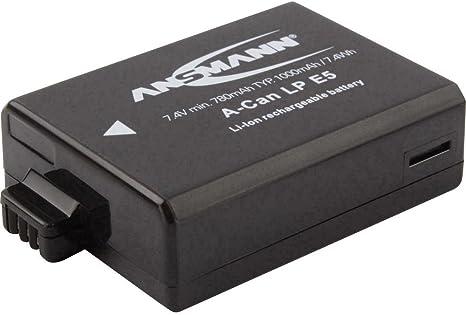 Ansmann 5044443 A Can Lp E5 Li Ion Digicam Akku 7 4v Kamera