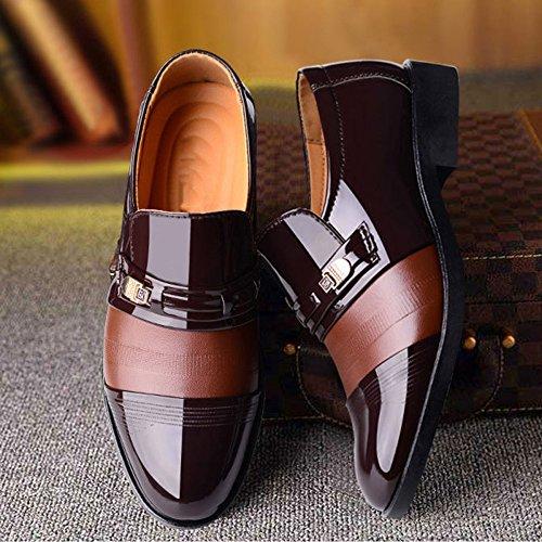 D'hiver Cravate Cotton Brown Cuir Casual pour en Plus Chaussures Homme Soft Commerce Chaussures Marron Velvet Chaussures Shoes gwRvqU