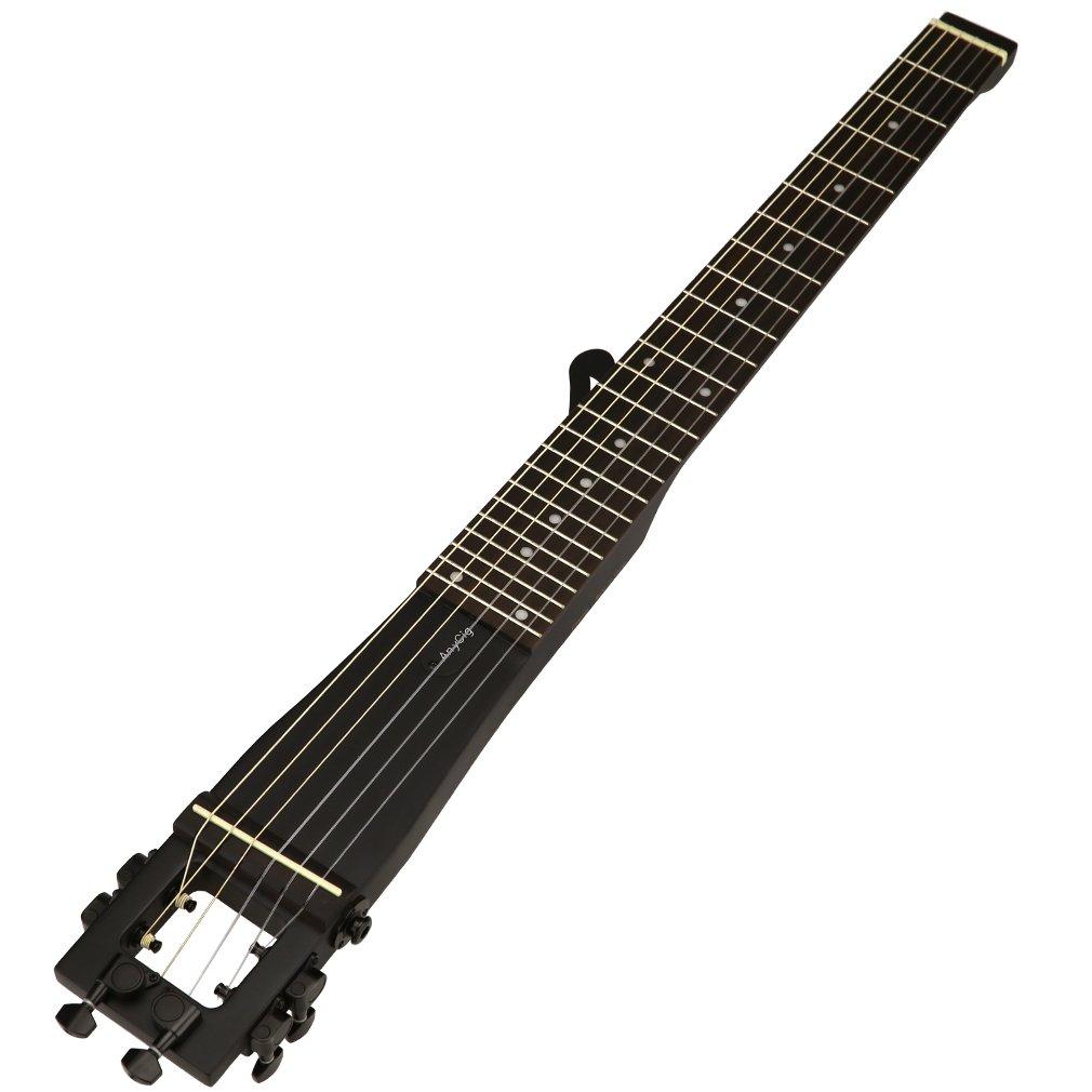 Anygig AGN ナイロン弦フルスケール クラシックトラベルギター バックパッカー ブラック  ブラック B01M6WFNUB