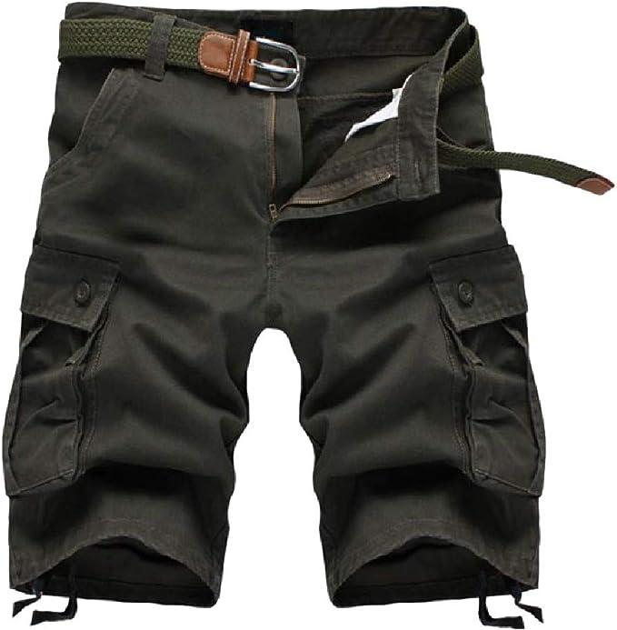 EnergyWD メンズミッドウエスト屋外リラックスマルチポケット戦術的な戦闘パンツ