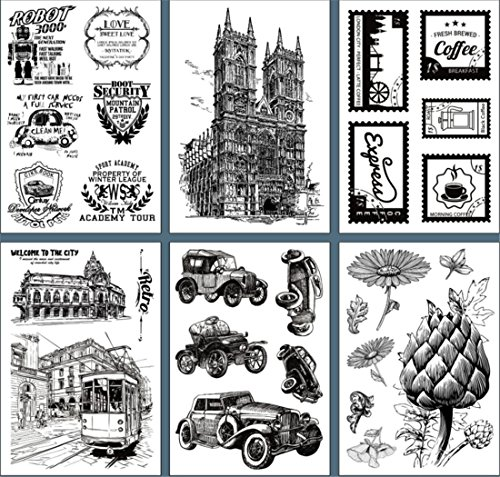 Layhome Vintage Clear Stamp Stamping Scrapbooking Notebook Album Cards Decor New Arrival (Sewing Machine) by Layhome (Image #4)
