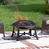 Fire Sense Augusta 30 in. Wood Burning Fire Pit