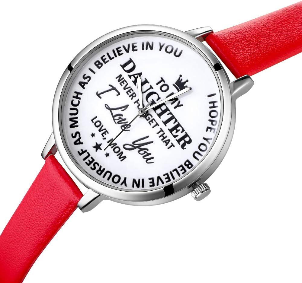 Montres bracelet en plastique bracelet à quartz pour enfants étanche montre jeune fille motif fruits 1 pièce café Rouge