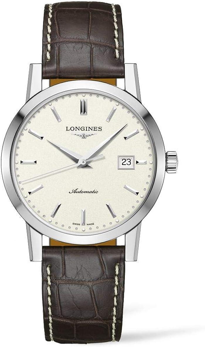 Longines Heritage L4.825.4.92.2 - Reloj automático para hombre con esfera beige