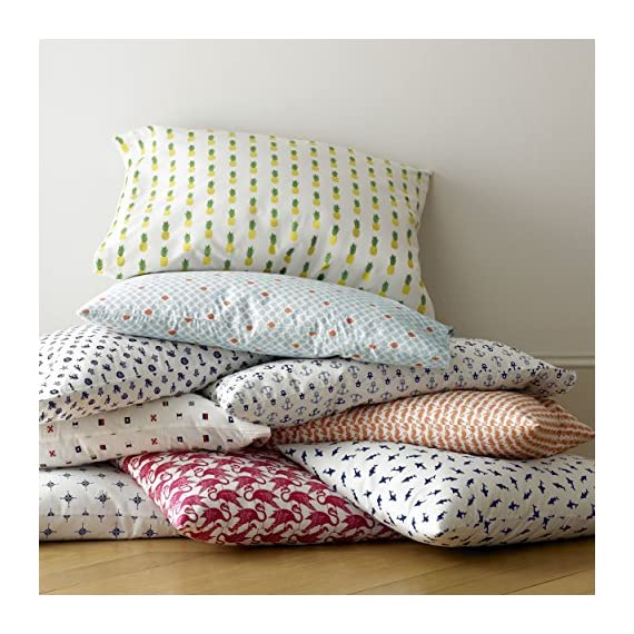 Poppy & Fritz 220843 Pineapples Cotton Sheet Set,Yellow/Green,Twin - Sheets are T200, 100Percent Cotton percale Set includes flat sheet, fitted sheet and 1 pillowcase Fitted sheet has elastic on all sides for better fit - sheet-sets, bedroom-sheets-comforters, bedroom - 61Ezs525NsL. SS570  -