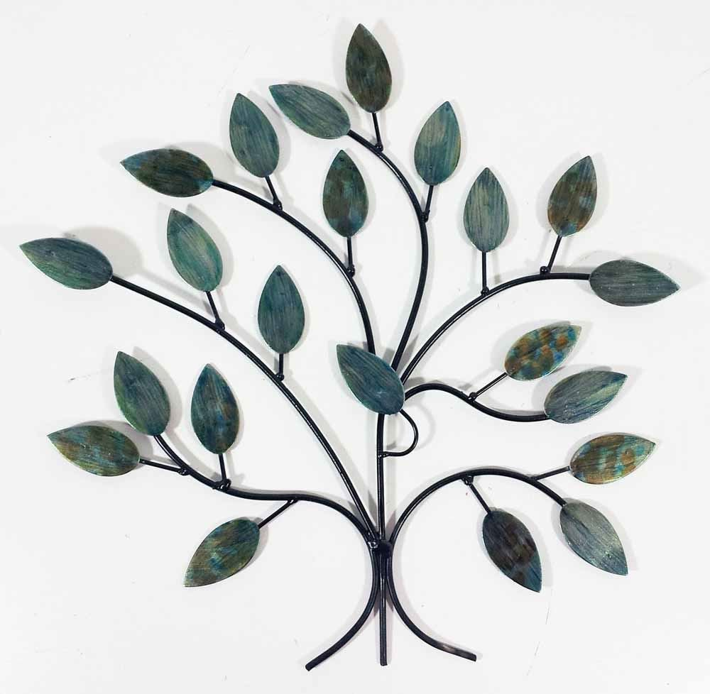 Contemporary Metal Wall Art Decor Sculpture - Cool Winter Tree Branch SK Style