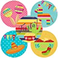 Fiesta Party Sticker Labels - Set of 50