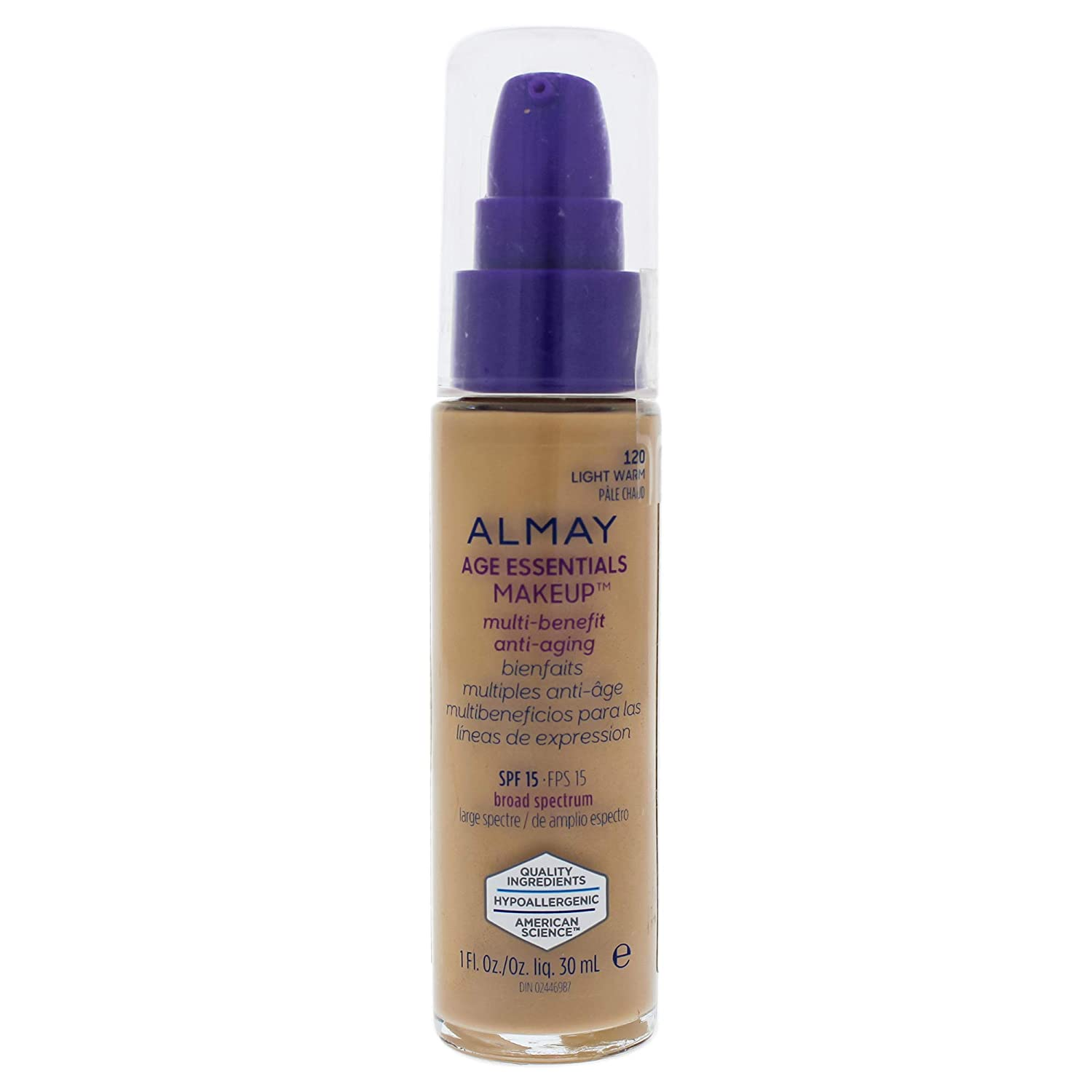 Almay Age Essentials Multi-benefit Anti-aging Makeup - 120 Light Warm By Almay for Women - 1 Oz Foundation, 1 Oz