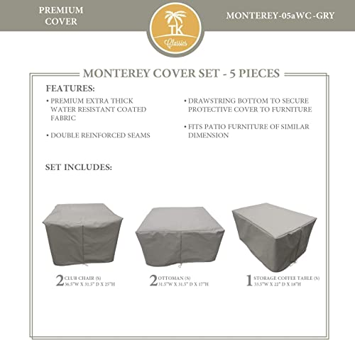 TK Classics MONTEREY-05a Protective Cover Set, in Grey Grey