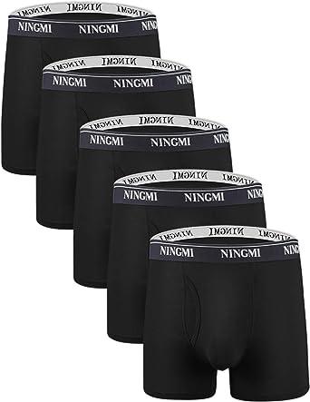 NINGMI Hommes Boxer Shorts Lot de 5 Caleçons Doux Boxers